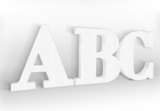 Dekobuchstaben - Schriftart Bodoni