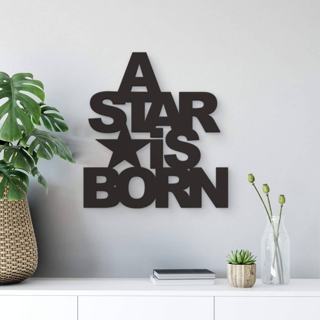Decoratieletters   A Star is Born