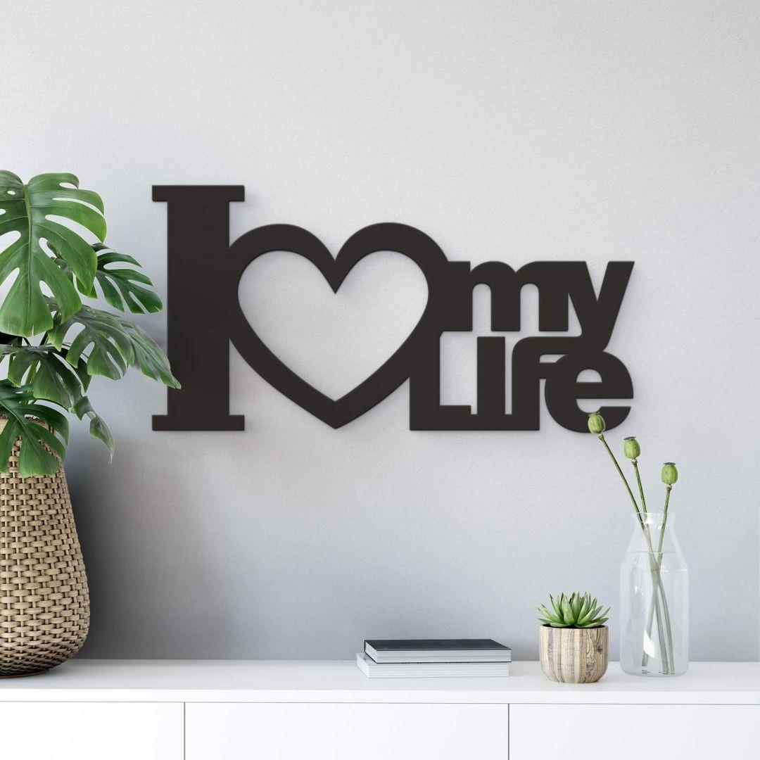 Dekobuchstaben 3D - I Love my Life