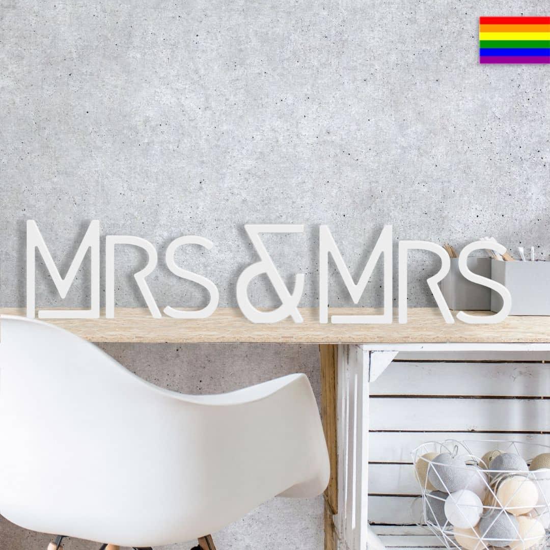 Dekobuchstaben 3D Mrs & Mrs modern