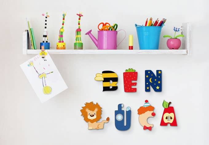 Decoratieletters Kinder Alfabet