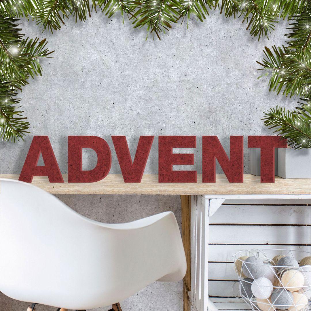 MDF-Holzbuchstaben Advent