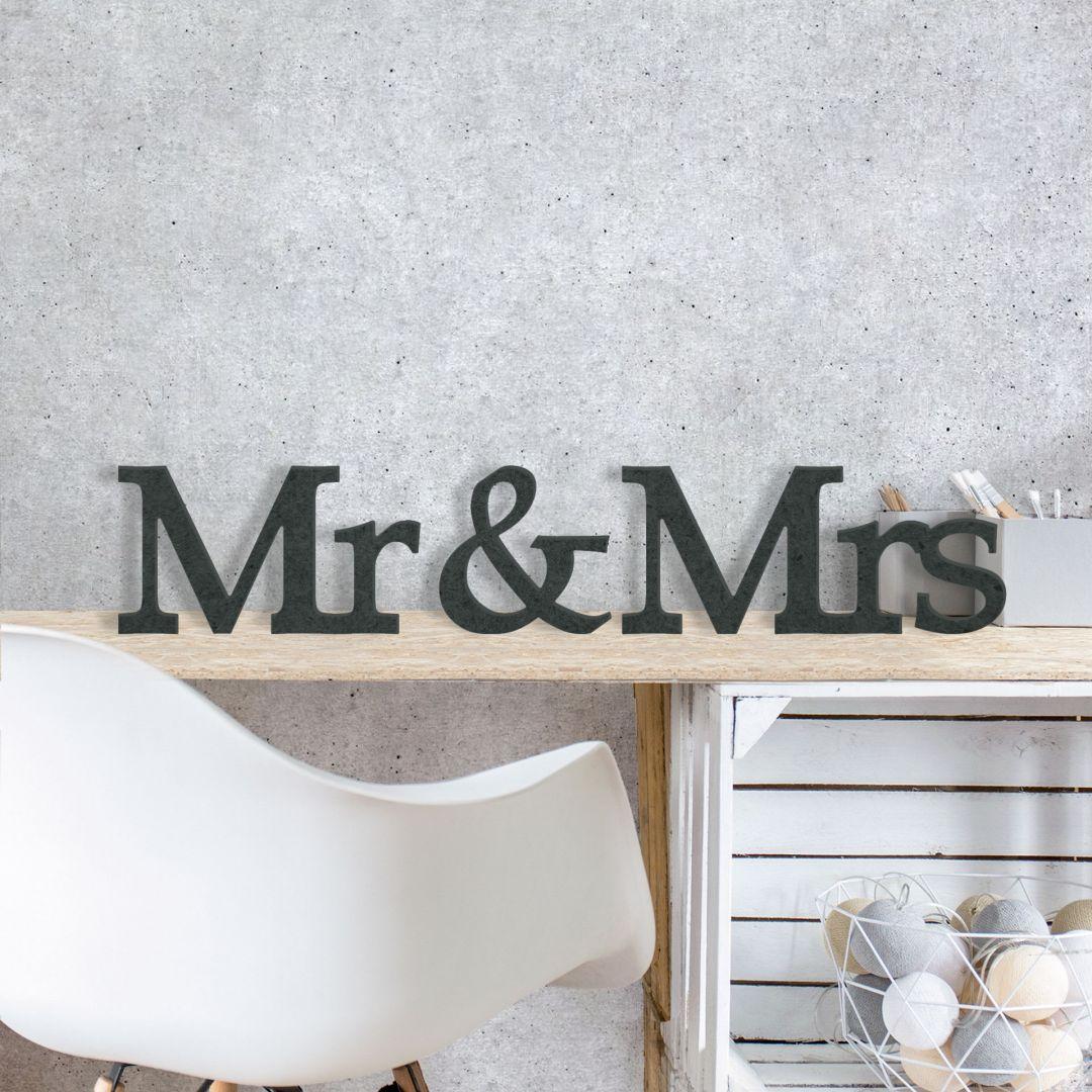 mdf holzbuchstaben mr mrs serife deko mit 3d buchstaben. Black Bedroom Furniture Sets. Home Design Ideas