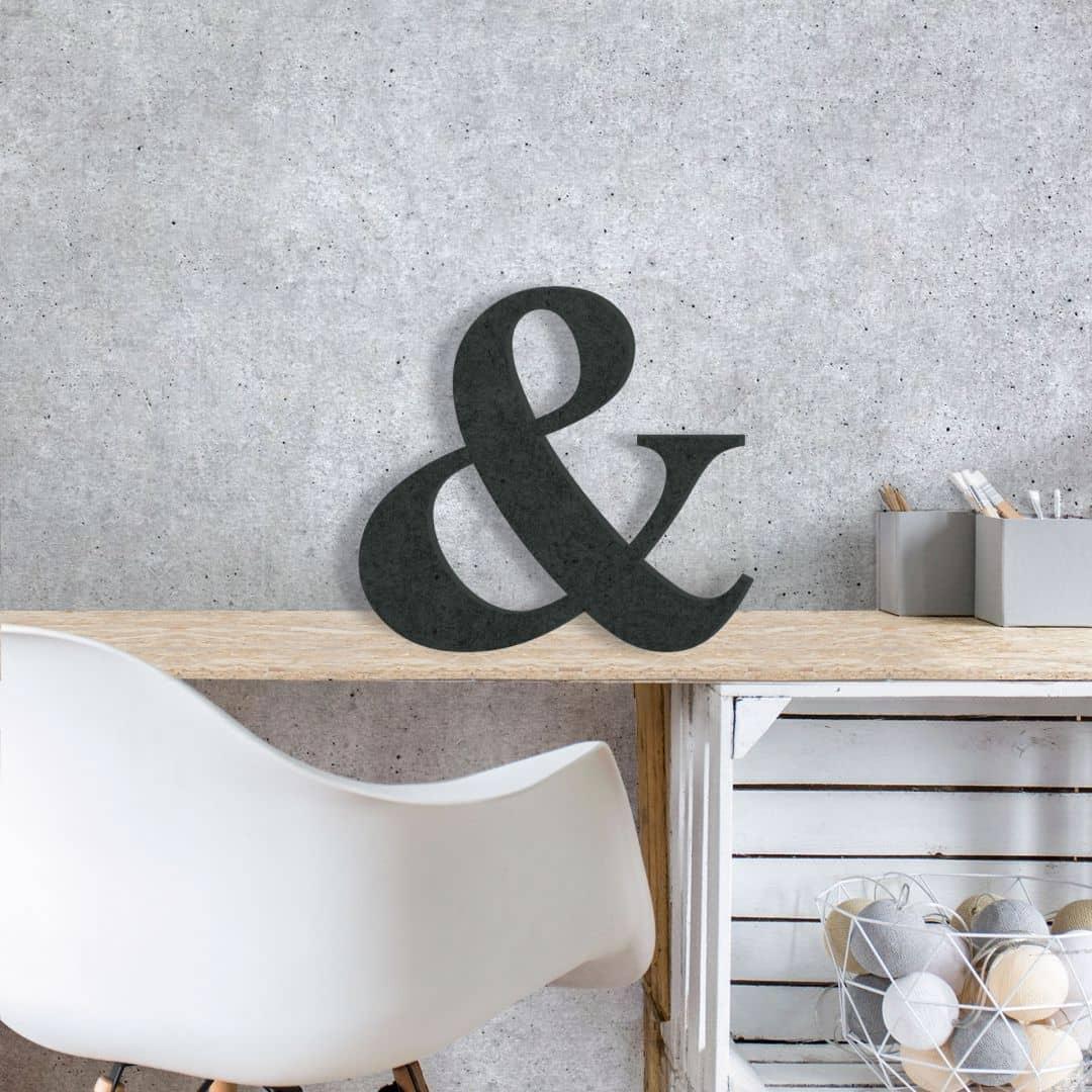 MDF-Holzbuchstaben Et-Zeichen - Deko mit 3D Buchstaben | wall-art.de