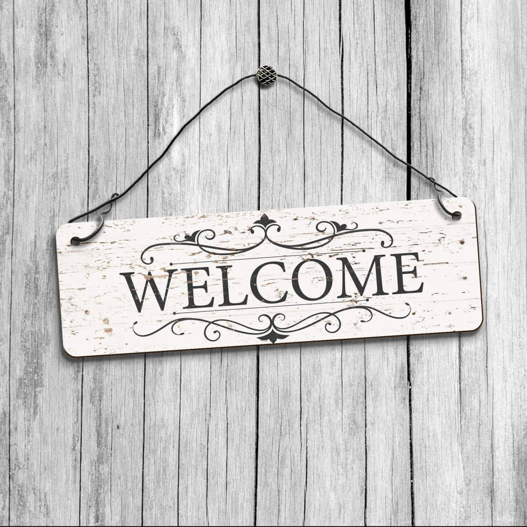 Decorative Signs For Your Home: Vintage Welcome