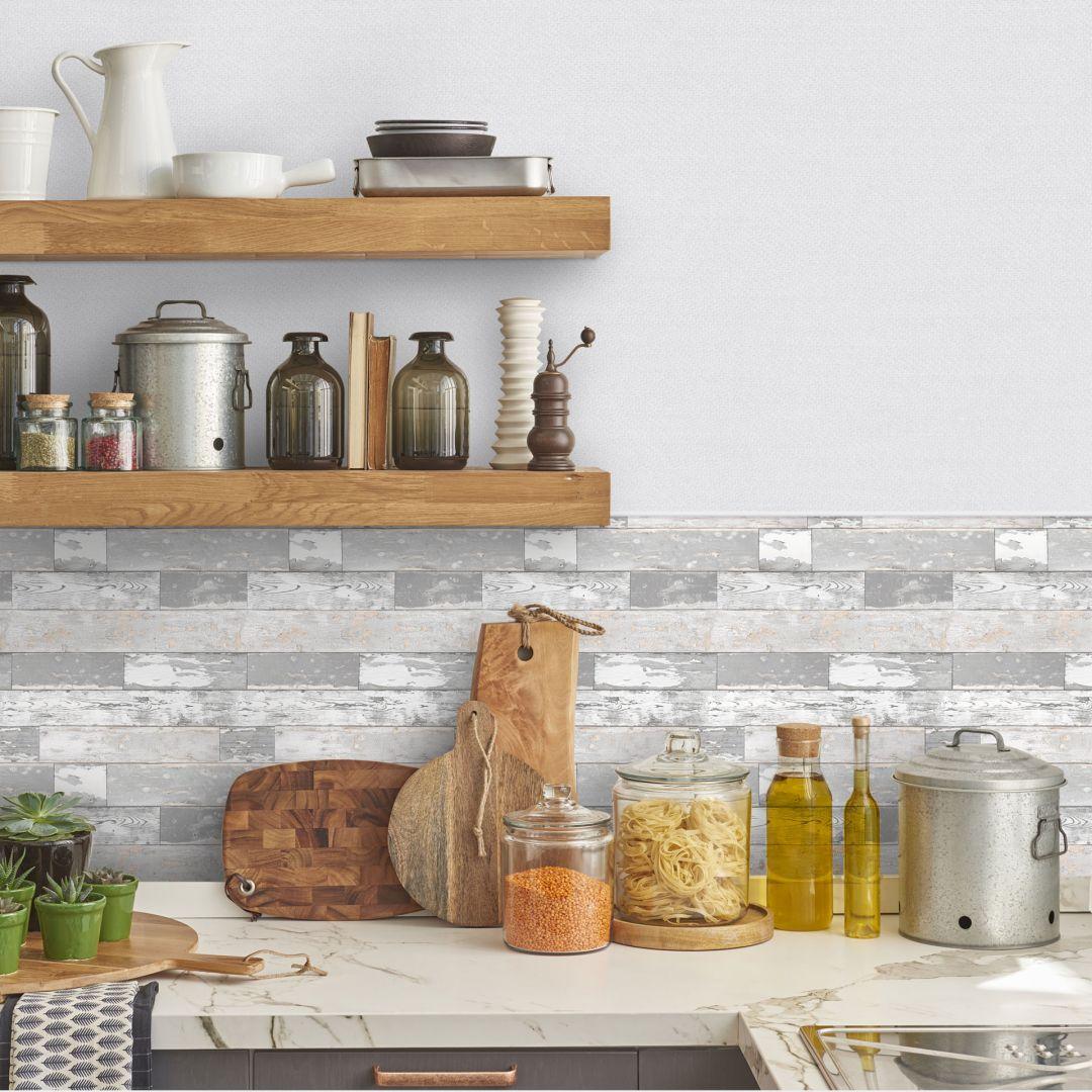 Pellicola decorativa autoadesiva effetto legno wall for Targhe decorative in legno