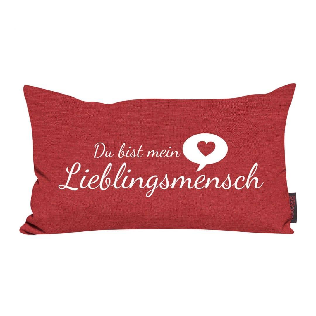 kissen lieblingsmensch rot wall. Black Bedroom Furniture Sets. Home Design Ideas