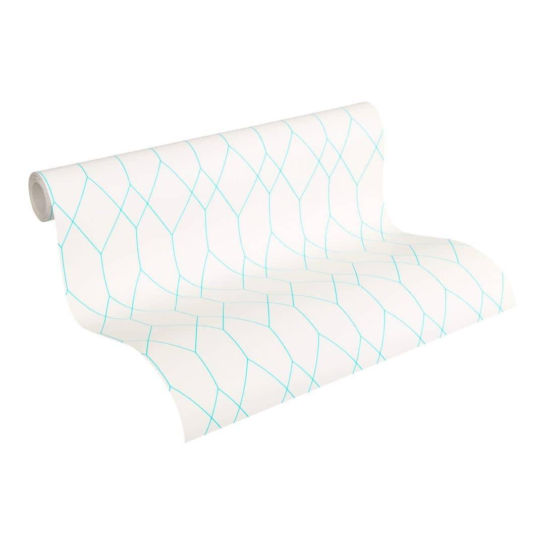 Esprit Home Papiertapete Eco of Nature blau, weiß