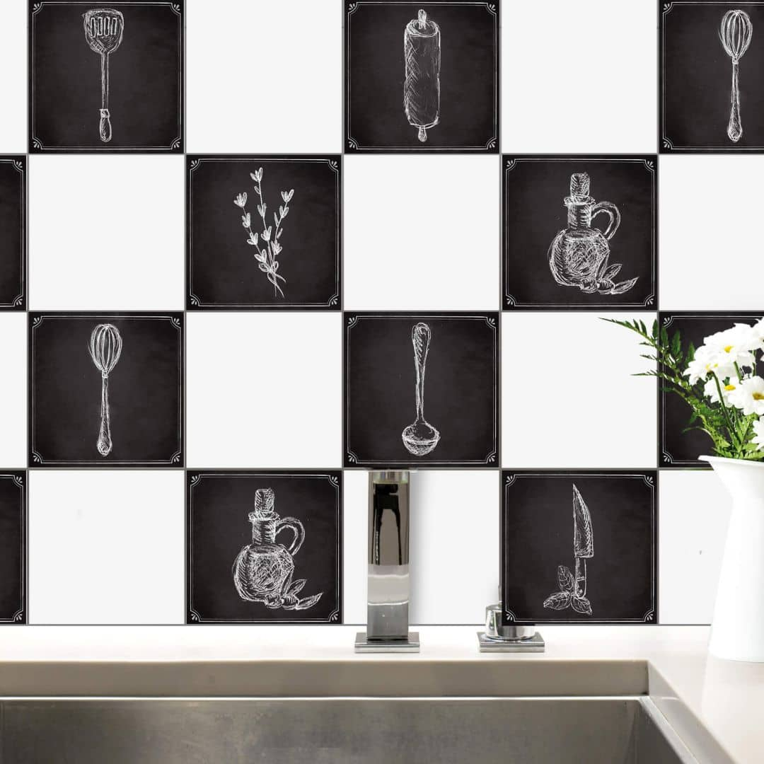 Sticker carrelage cuisine rustique wall - Stickers cuisine carrelage ...