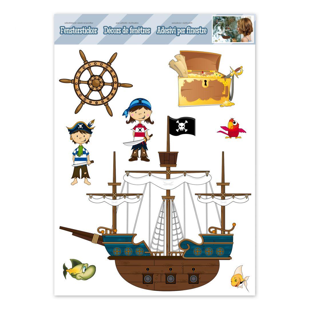 Fenstersticker Piraten Set