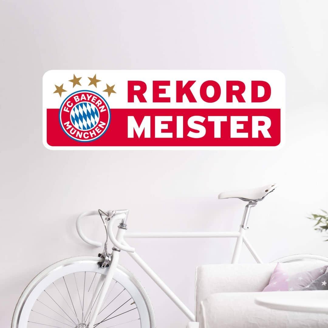 Wandtattoo Rekordmeister Bayern München