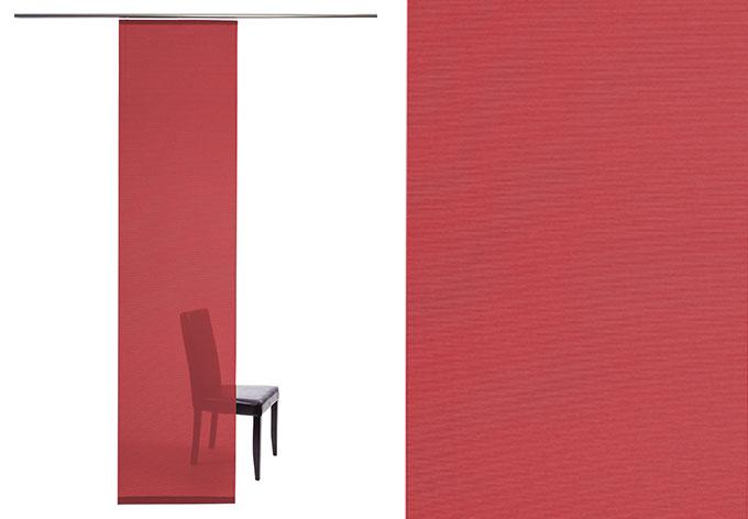 Homing Flächenvorhang Manhattan - rot