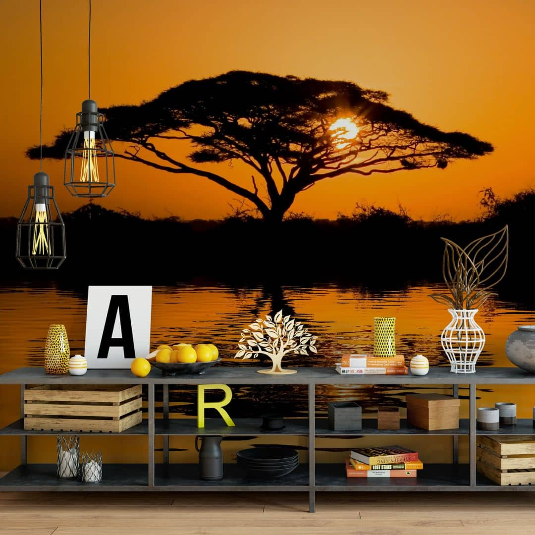 fototapete afrika wall. Black Bedroom Furniture Sets. Home Design Ideas