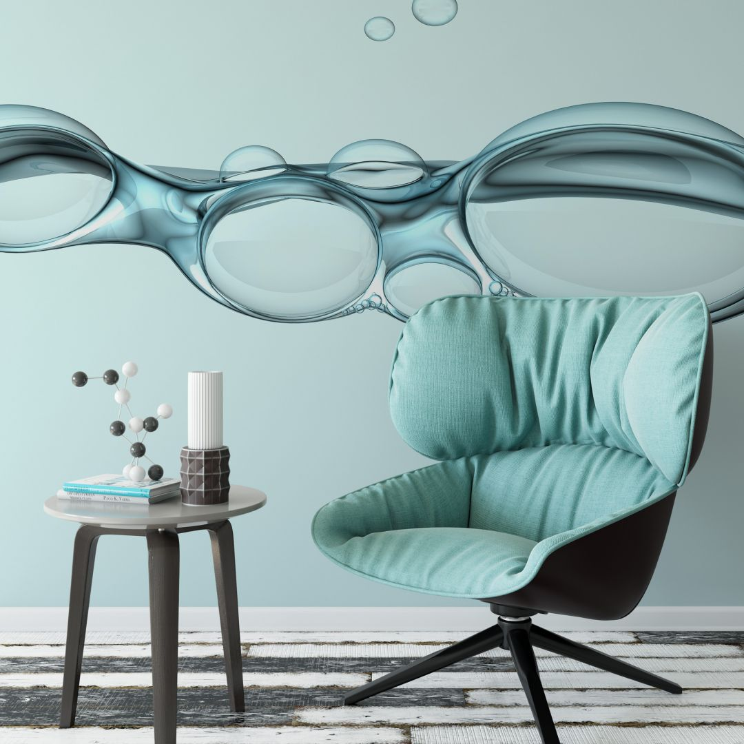 fototapete bubbles beruhigende luftblasen im wasser wall. Black Bedroom Furniture Sets. Home Design Ideas