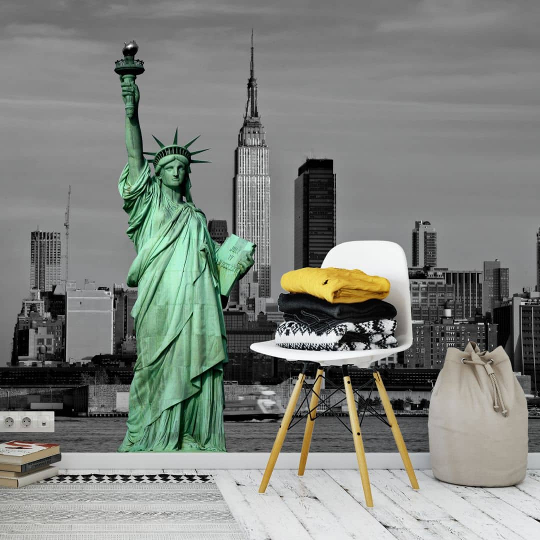 papier peint photo statue of liberty. Black Bedroom Furniture Sets. Home Design Ideas