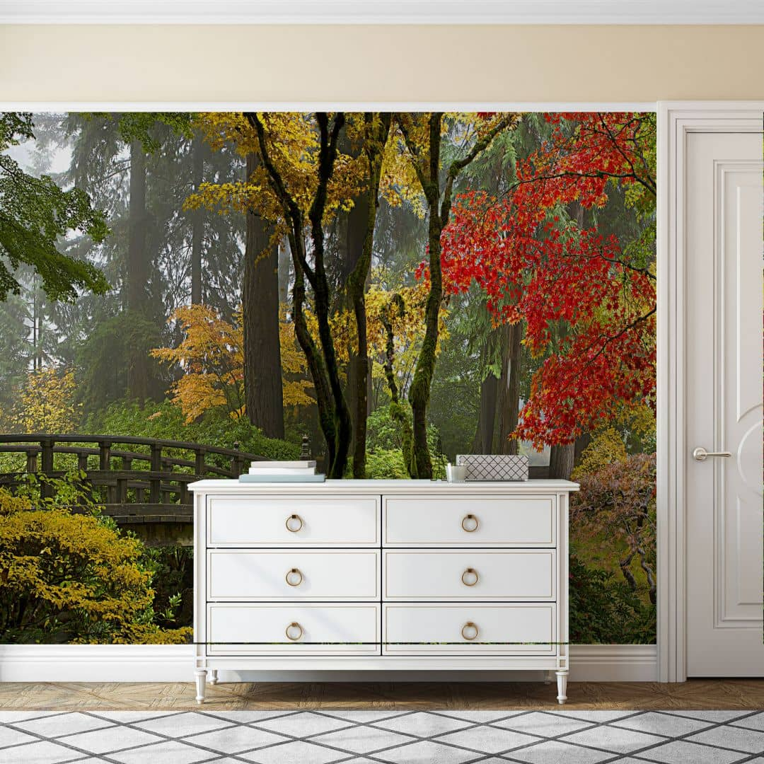 papier peint photo jardin japonais. Black Bedroom Furniture Sets. Home Design Ideas