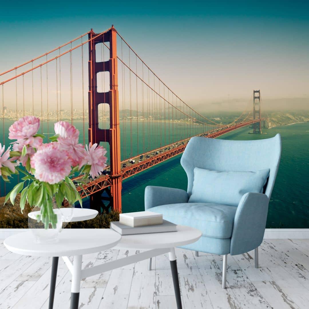 fototapete vliestapete die stadt an der bucht exklusiv aus der wall art kollektion wall. Black Bedroom Furniture Sets. Home Design Ideas
