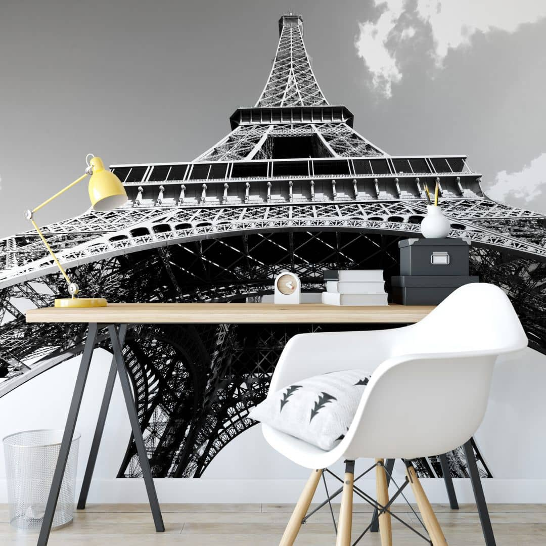 Fotomurale Torre Eiffel - bianco e neroo