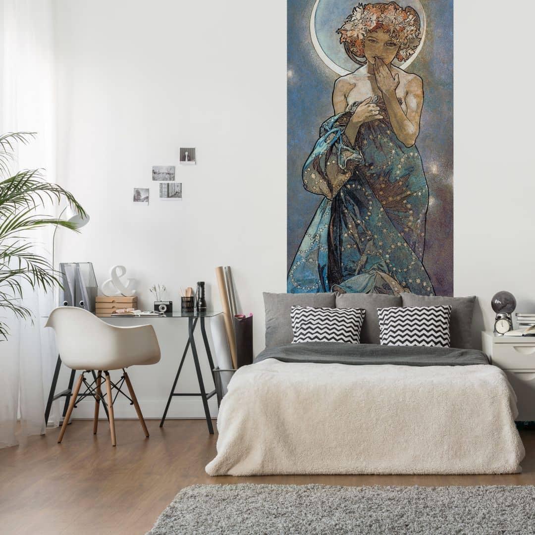 Fotomurale Mucha Stella La Luna Wall Art It