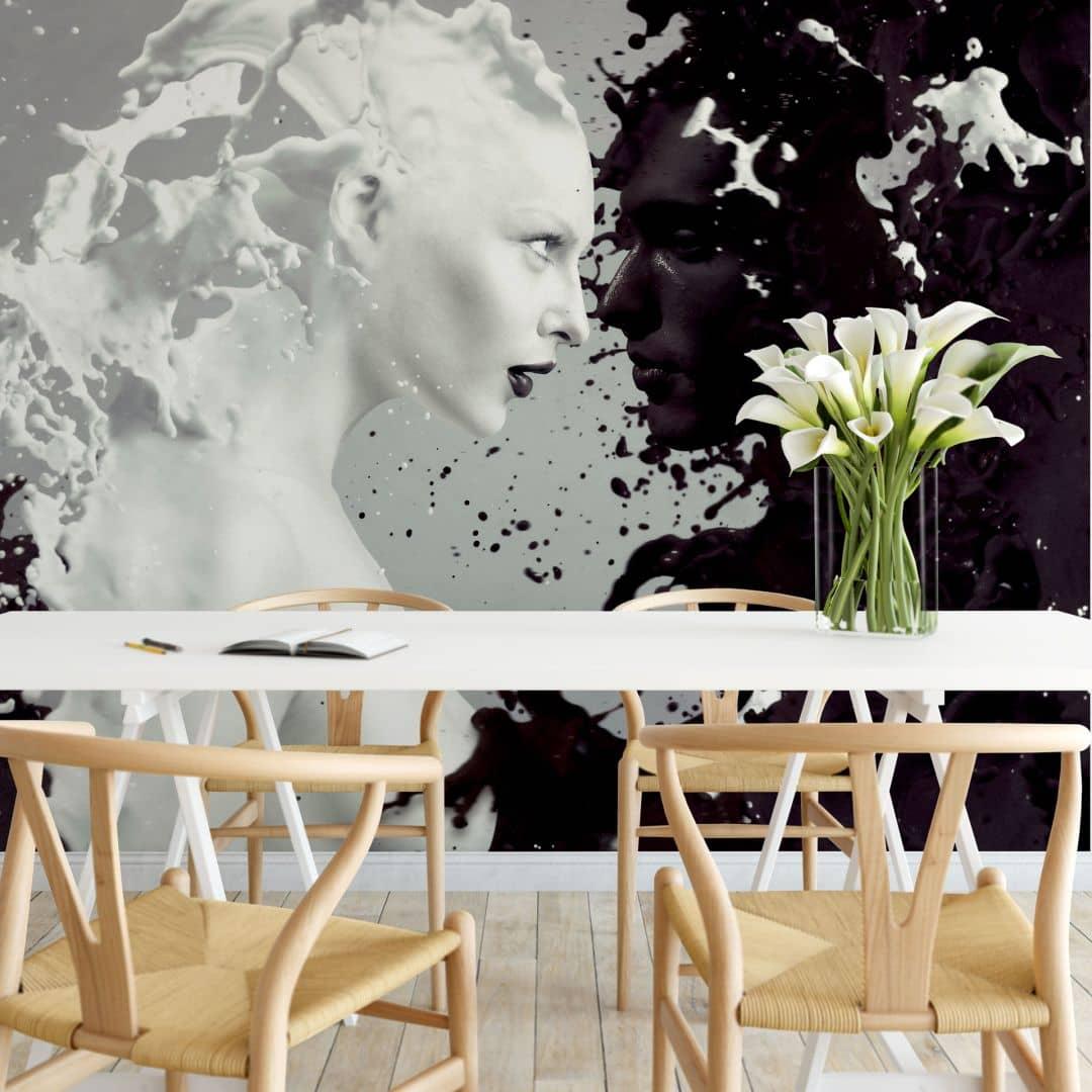 Fototapete Milk & Coffee - 288x260 cm