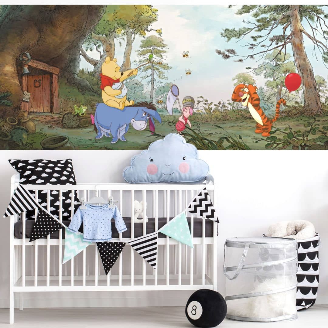 fototpaete papiertapete winnie pooh s house 4 413 wall. Black Bedroom Furniture Sets. Home Design Ideas