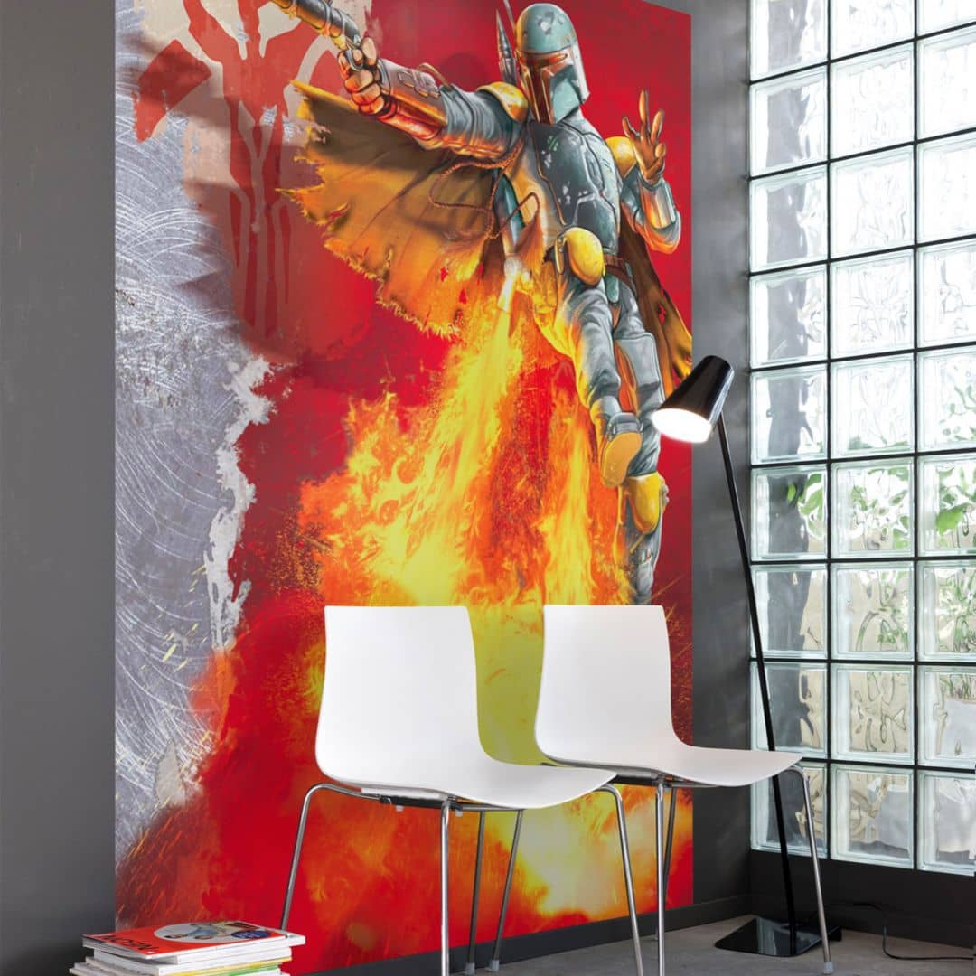 fototapete papiertapete star wars boba fett 4 440 wall. Black Bedroom Furniture Sets. Home Design Ideas