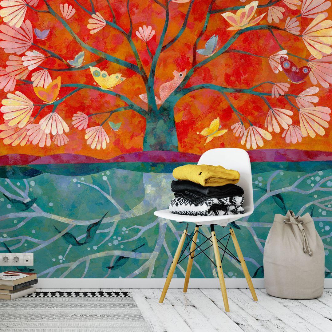 Fototapete - Aurélie Blanz - Baum des Lebens | wall-art.de