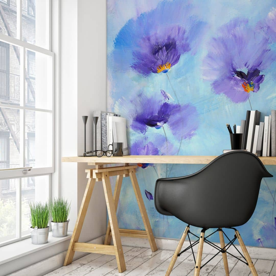 fototapete niksic rhapsody blue wall. Black Bedroom Furniture Sets. Home Design Ideas