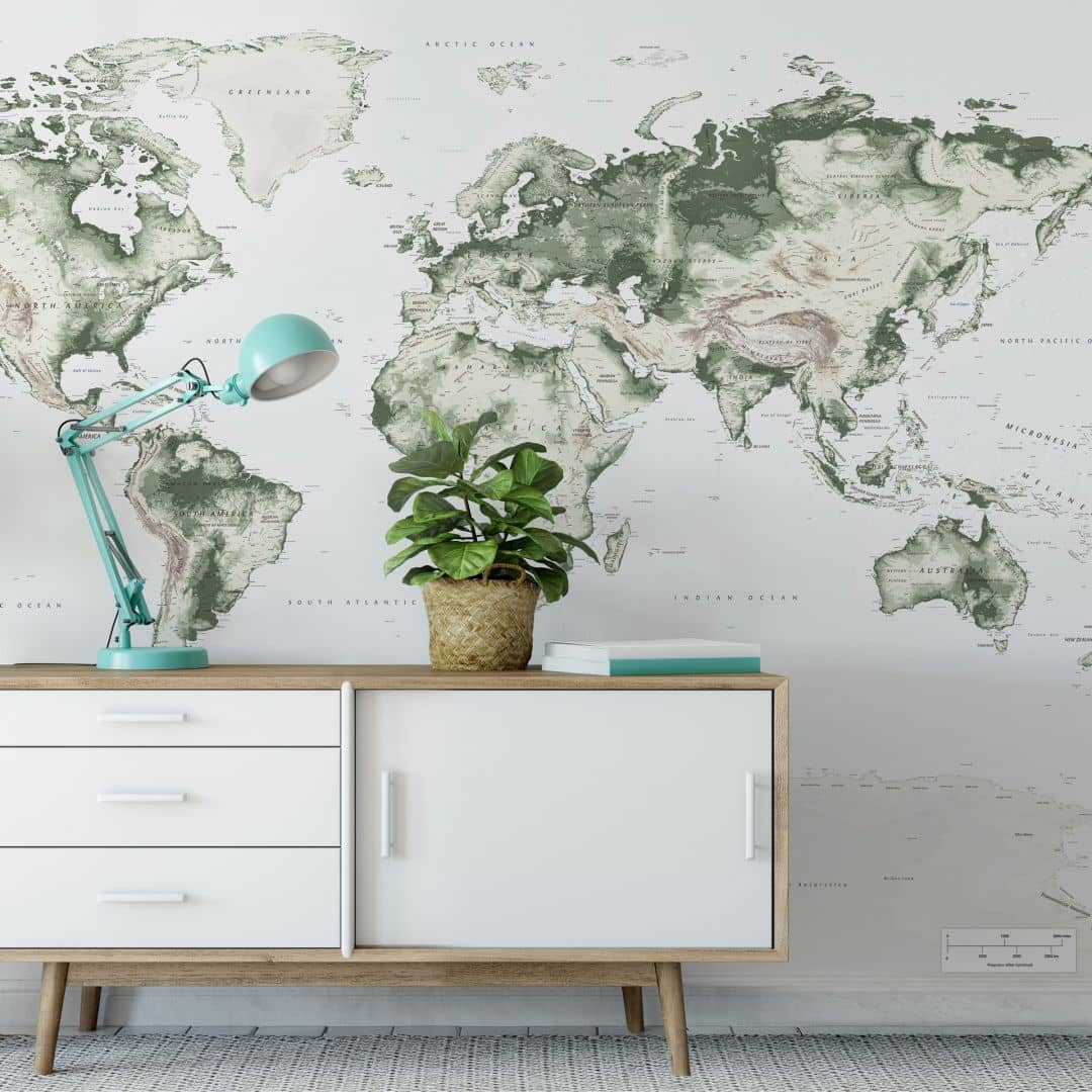 Photo wallpaper World Map – Vintage