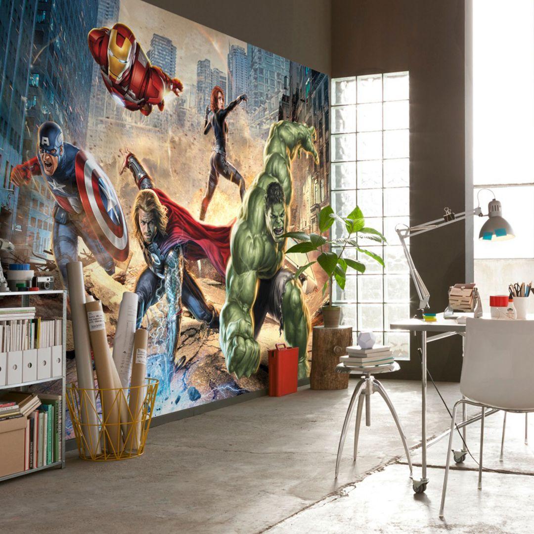 papier peint photo papier avengers street rage. Black Bedroom Furniture Sets. Home Design Ideas