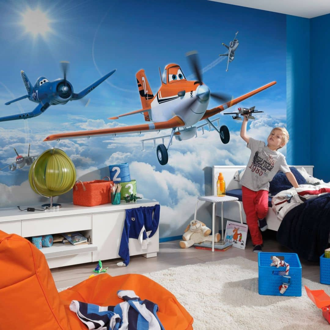 Photo Wallpaper Paper Disney Planes Above the Clouds