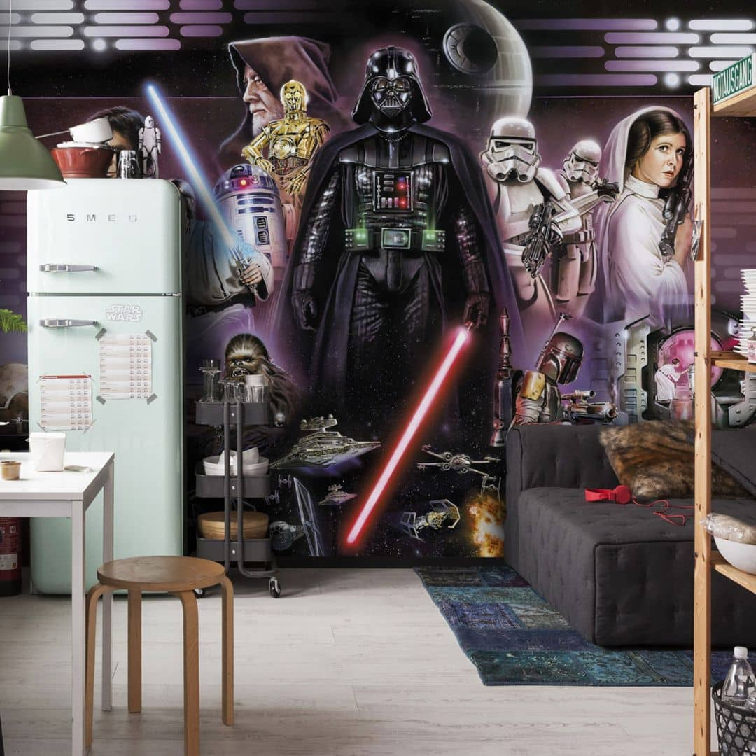 fototapete papiertapete star wars darth vader collage 8 482 wall. Black Bedroom Furniture Sets. Home Design Ideas