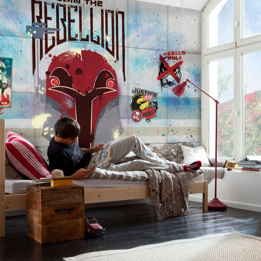 fototapete papiertapete star wars rebels wall 8 485 wall. Black Bedroom Furniture Sets. Home Design Ideas