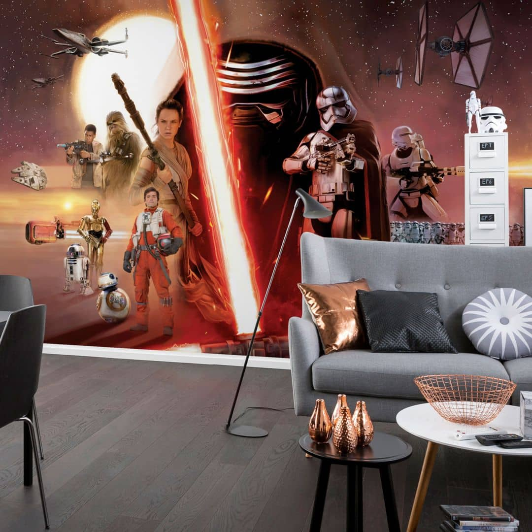 fototapete papiertapete star wars ep7 collage 8 492 wall. Black Bedroom Furniture Sets. Home Design Ideas