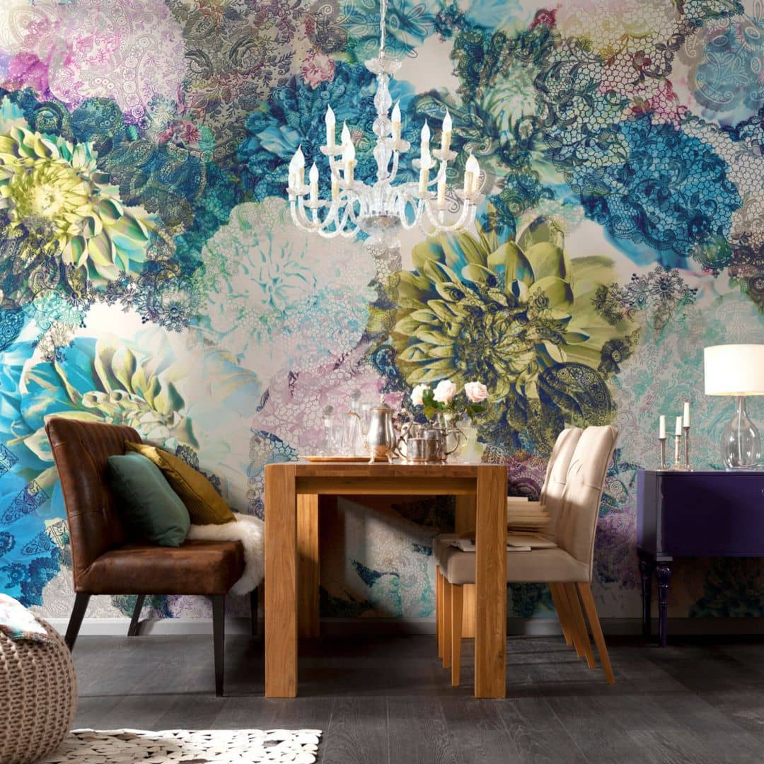 fototapete papiertapete frisky flowers 8 941 wall. Black Bedroom Furniture Sets. Home Design Ideas