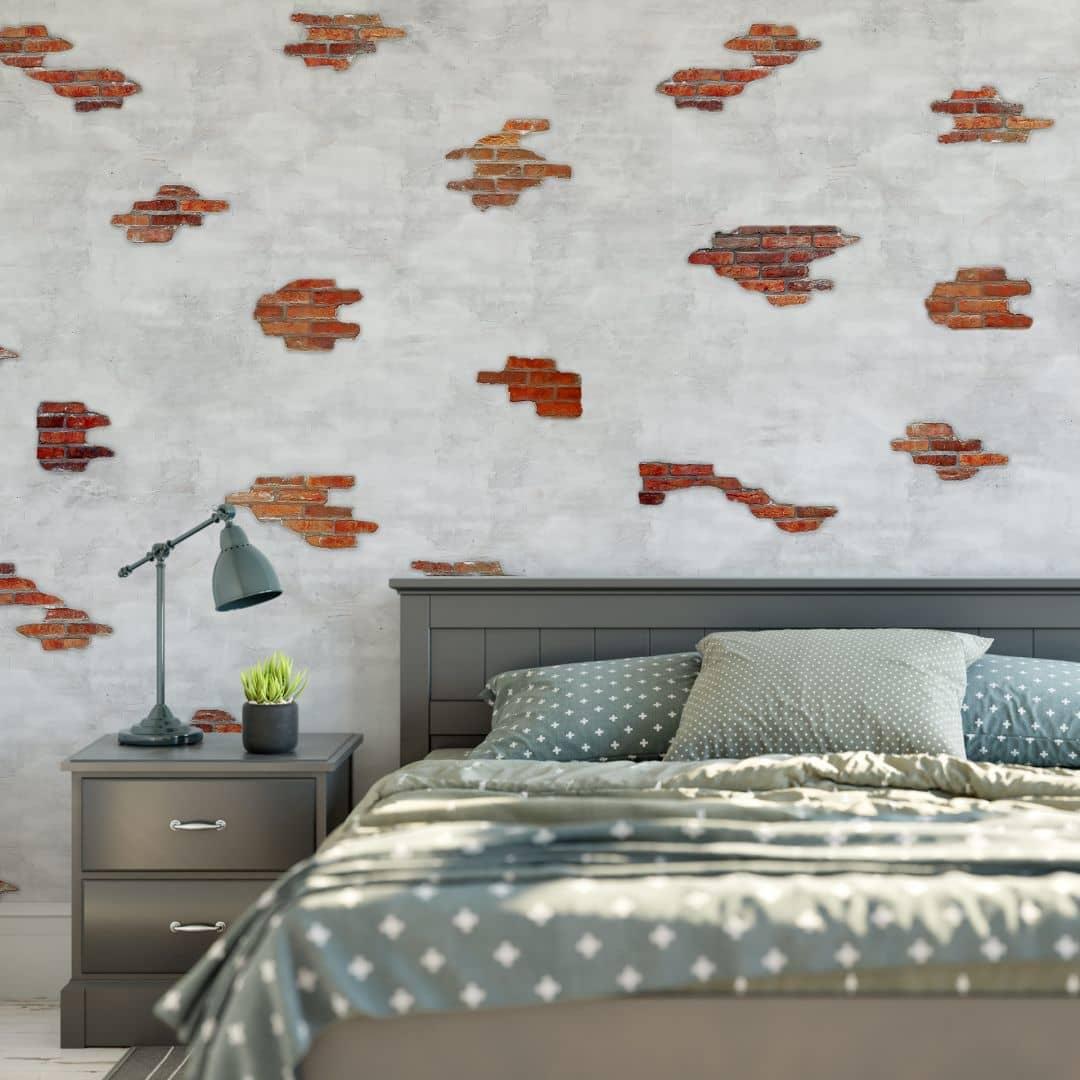 fototapete backsteinmauer wall. Black Bedroom Furniture Sets. Home Design Ideas