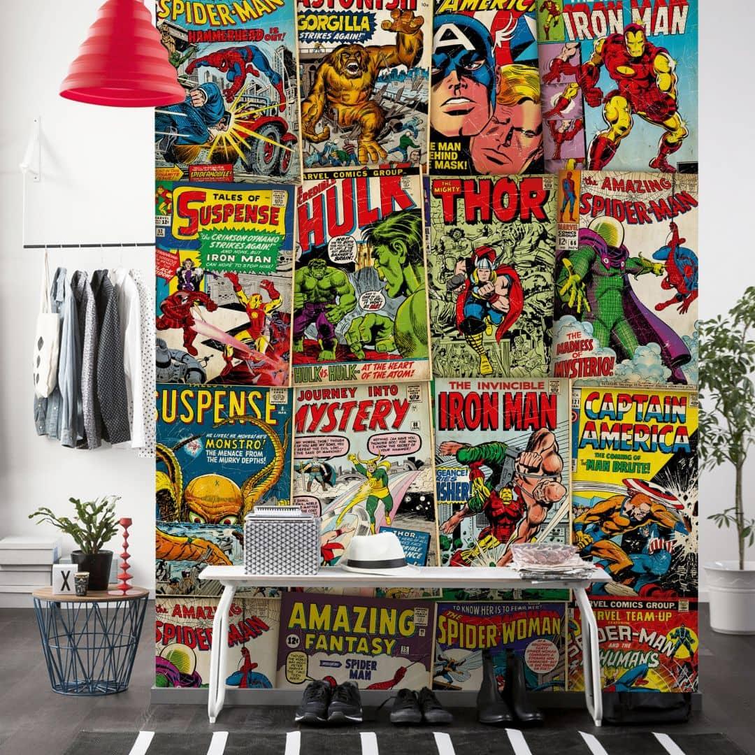 vlies panel marvel cover modern vd 007 120 x 200 cm wall. Black Bedroom Furniture Sets. Home Design Ideas