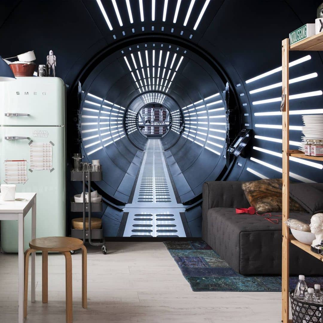 komar fototapete star wars episode viii tunnel 8 455 wall. Black Bedroom Furniture Sets. Home Design Ideas