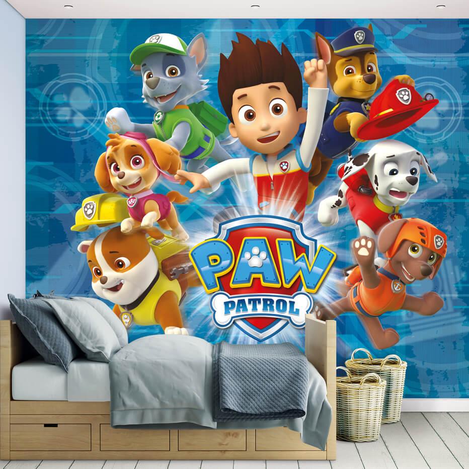 fototapete paw patrol helfer auf vier pfoten 45415 wall. Black Bedroom Furniture Sets. Home Design Ideas