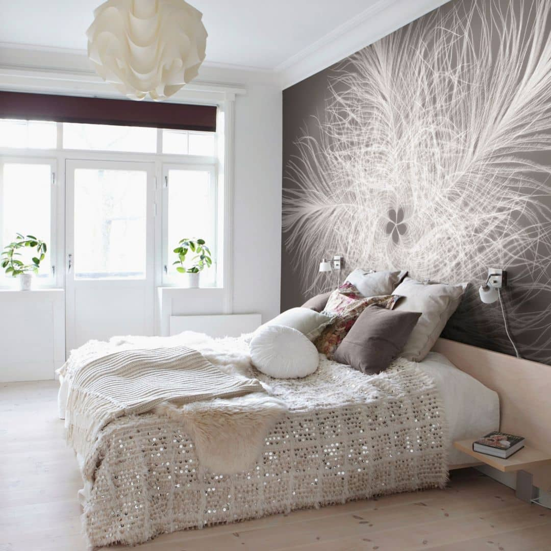 papier peint photo intiss plume wall. Black Bedroom Furniture Sets. Home Design Ideas