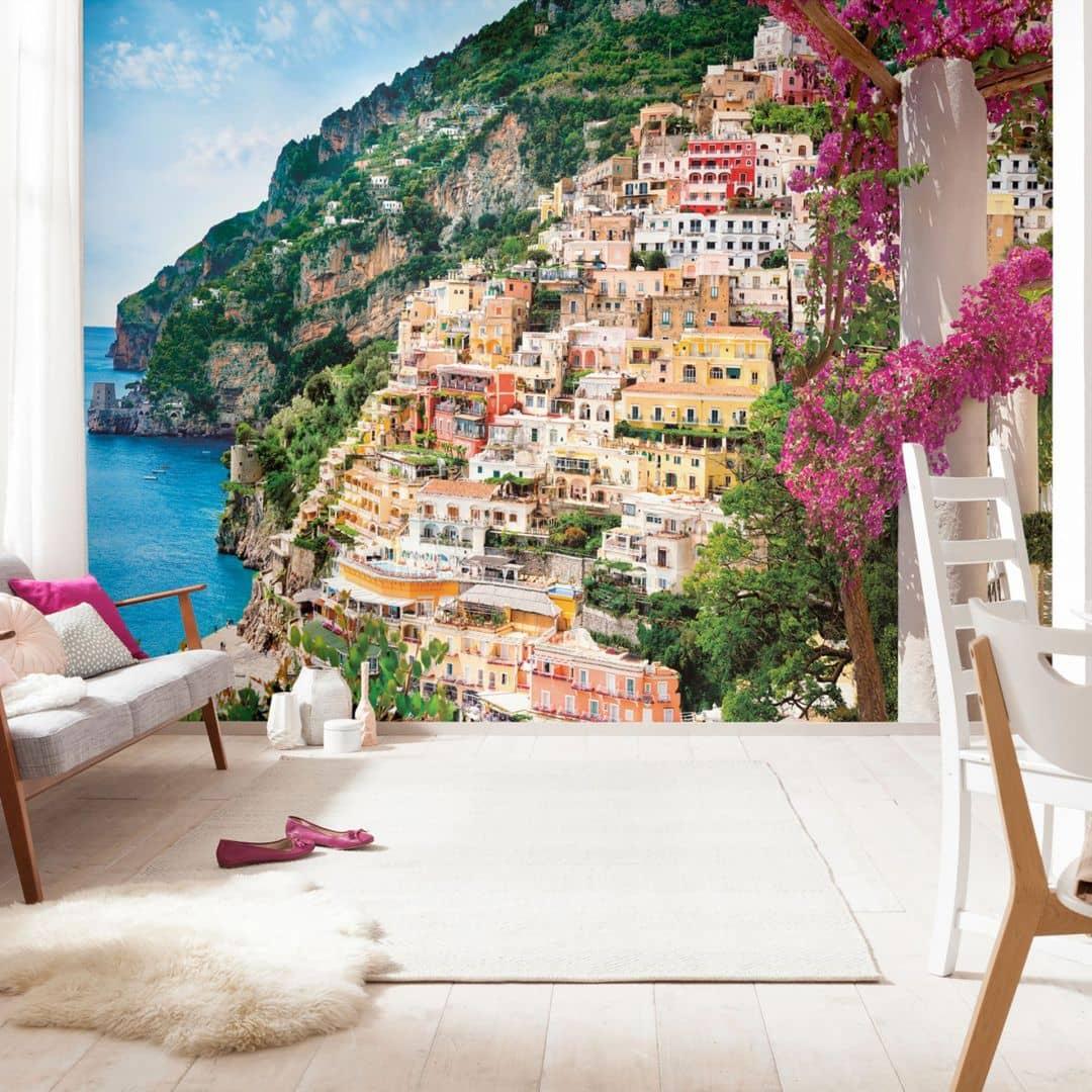 komar fototapete vliestapete positano xxl4 043 wall. Black Bedroom Furniture Sets. Home Design Ideas