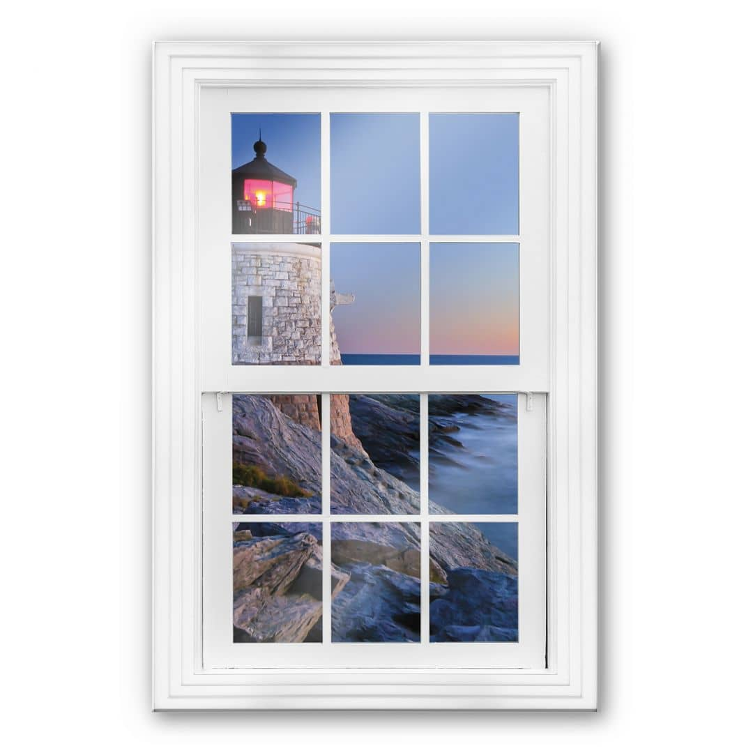 Glasbild 3d fenster meerblick wall for Fenster 60x80
