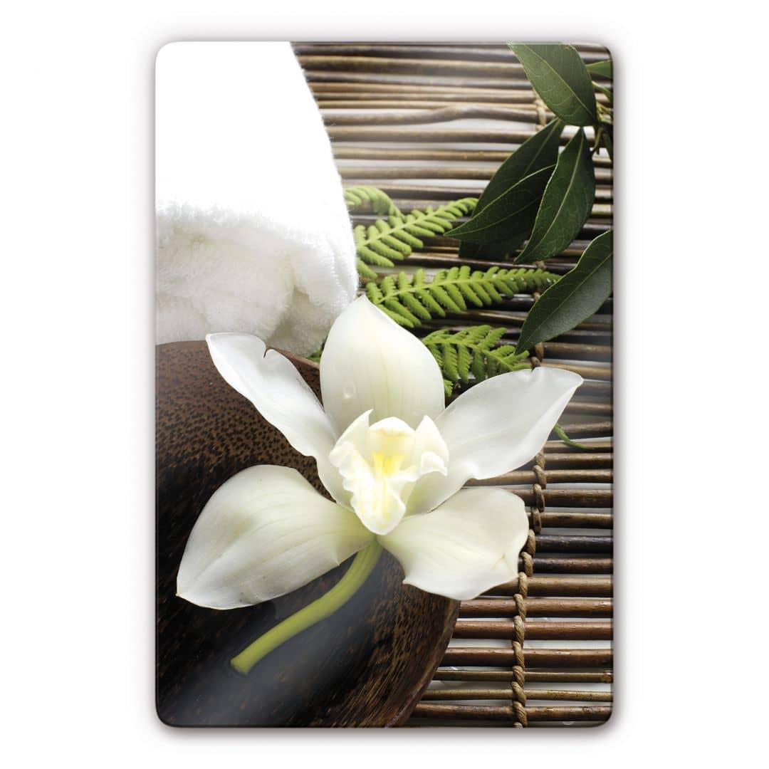 Glasbild Wellness Orchidee