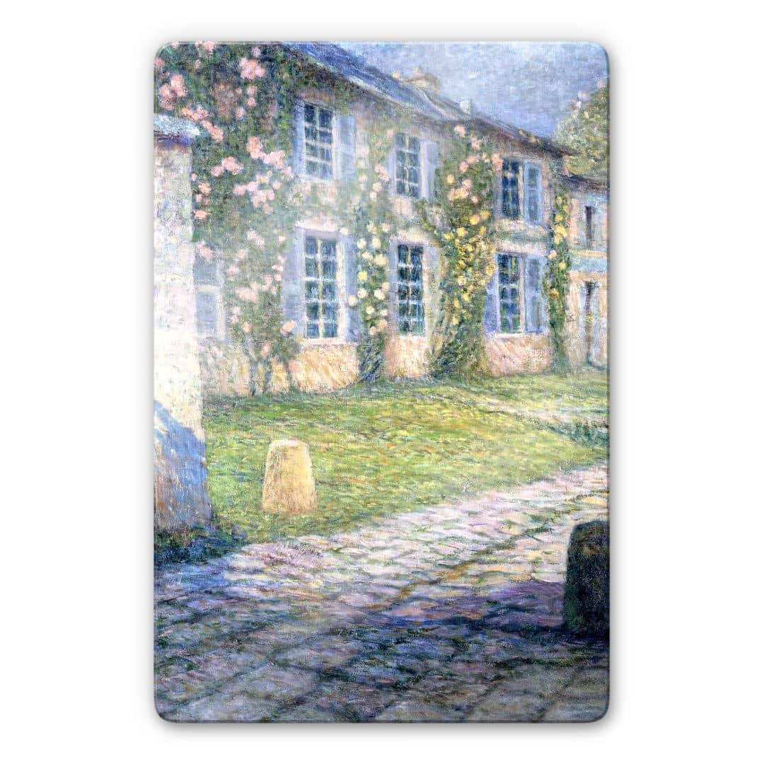 Glasbild henri le sidaner la maison rose versailles wall - Eugenie les bains la maison rose ...