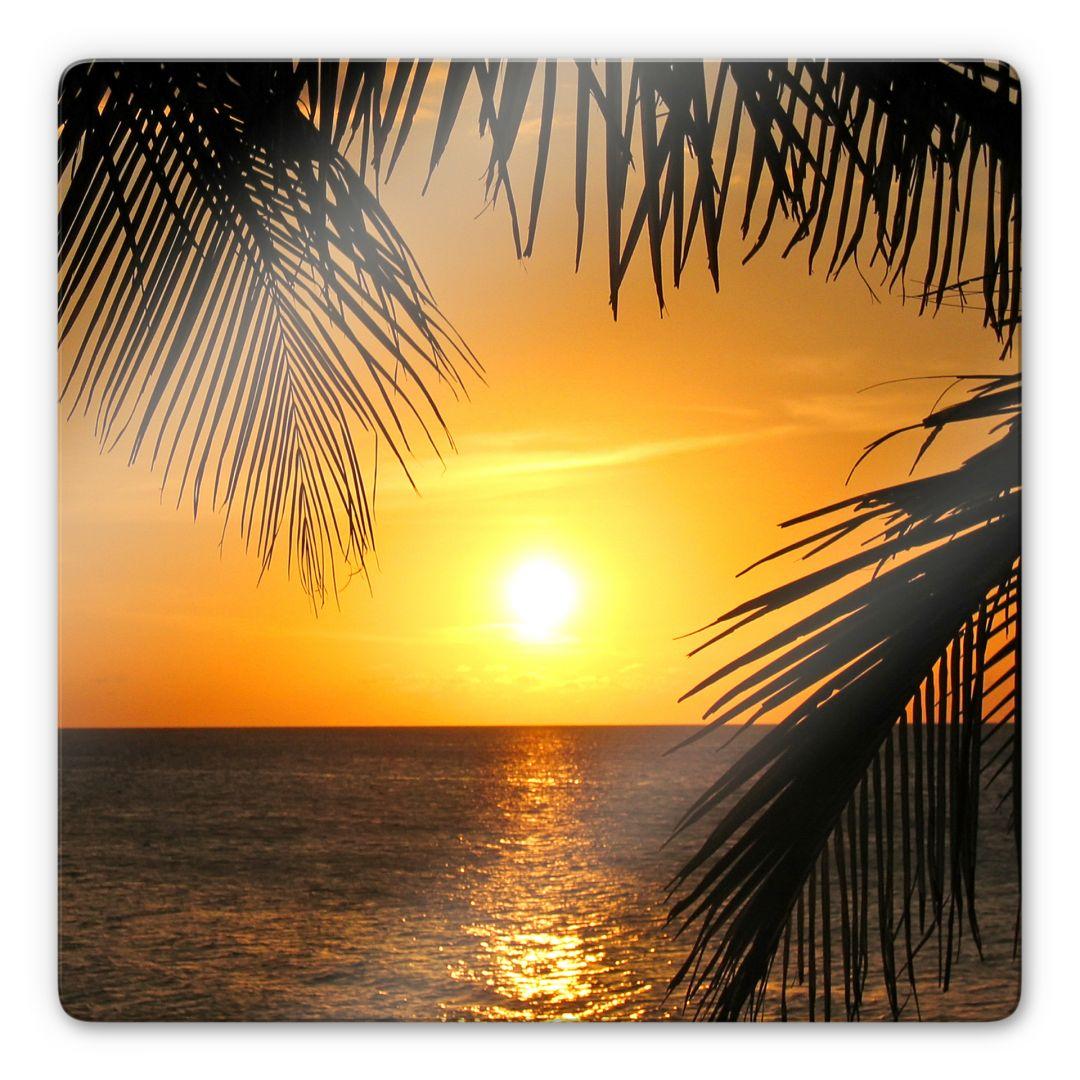 glasbild unter palmen karibisches flair f r das zuhause. Black Bedroom Furniture Sets. Home Design Ideas