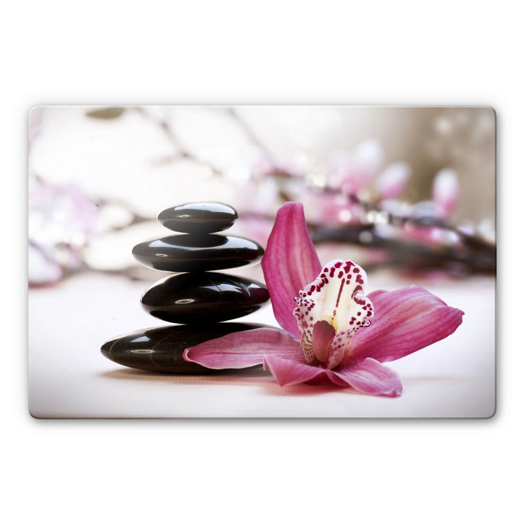 tableau en verre orchid e. Black Bedroom Furniture Sets. Home Design Ideas