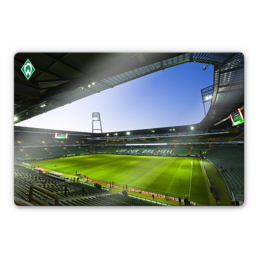 hochwertiges glasbild weserstadion innen von k l wall art. Black Bedroom Furniture Sets. Home Design Ideas