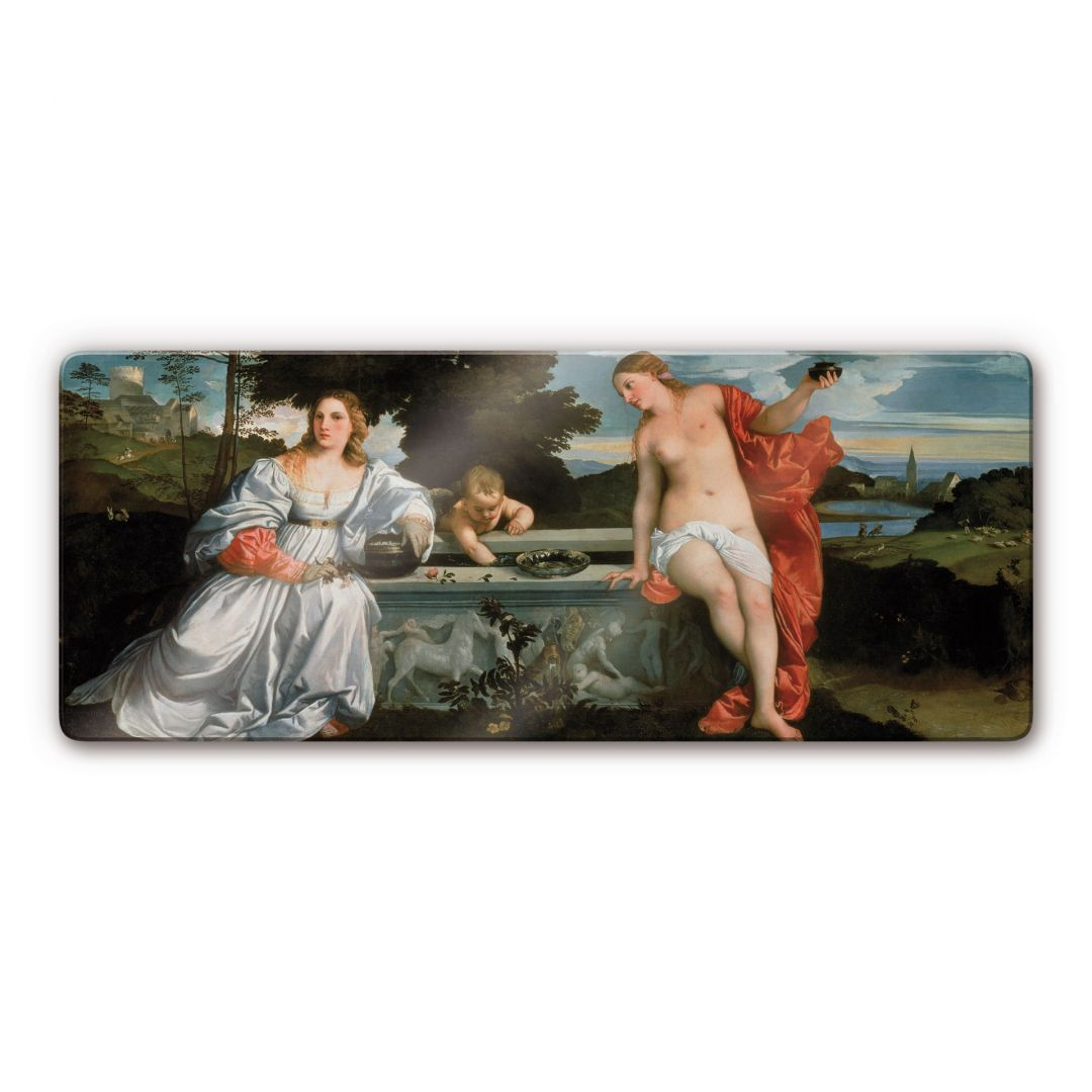 Tizian - Sacred and Profane Love Glass art | wall-art.com