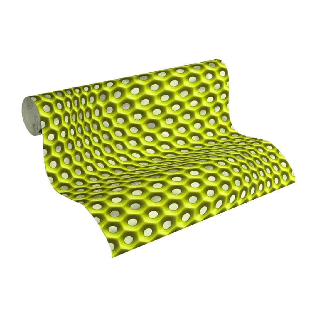 Livingwalls 3D Tapete Harmony in Motion by Mac Stopa grau, grün, metallic
