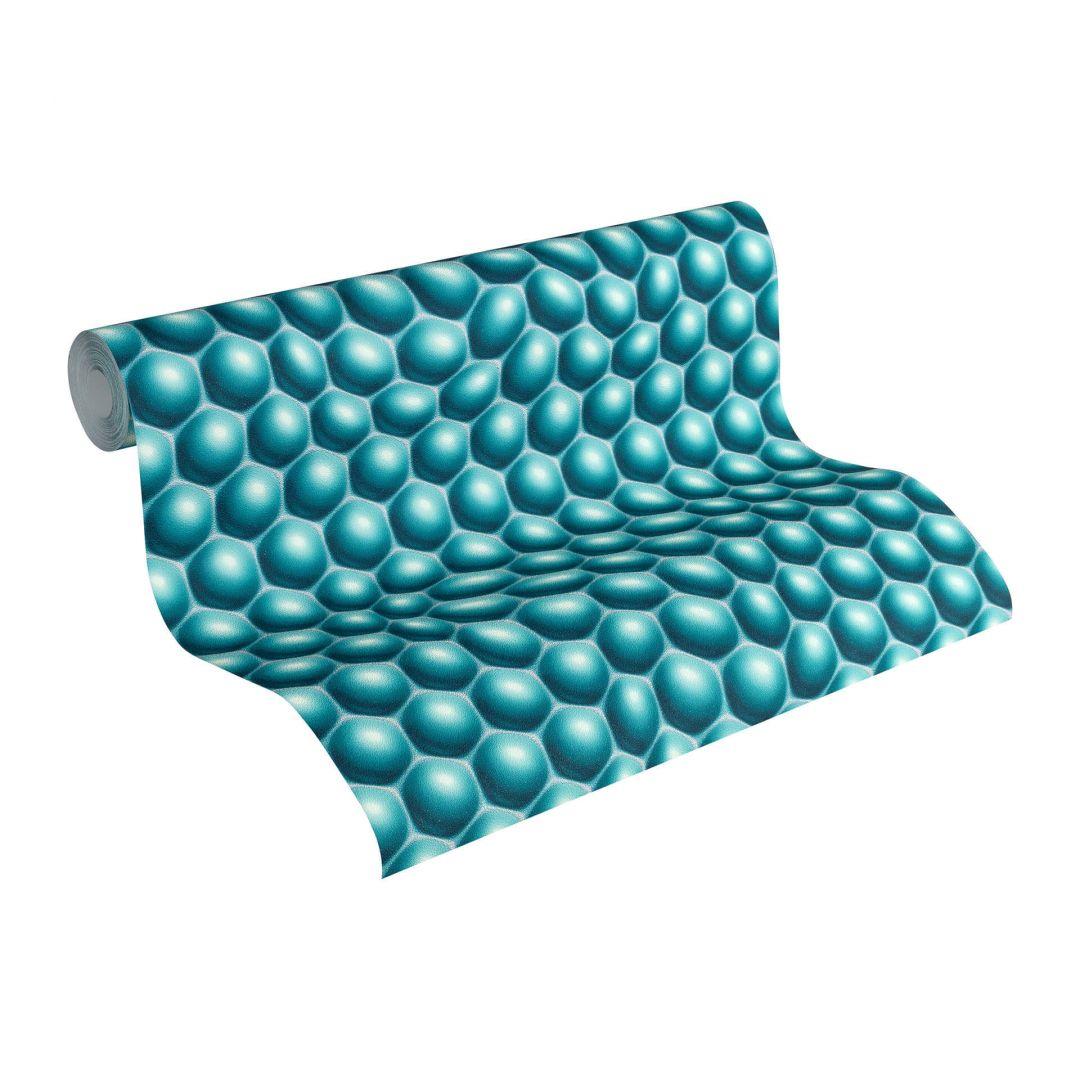 Livingwalls 3D Tapete Harmony in Motion by Mac Stopa blau, grau, metallic